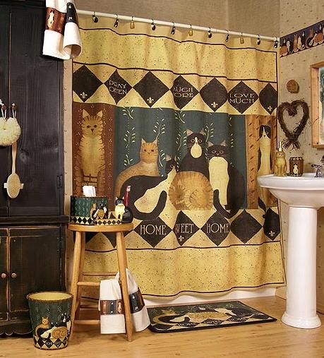Country cats bathroom - beautiful bathroom tile designs fap cielo