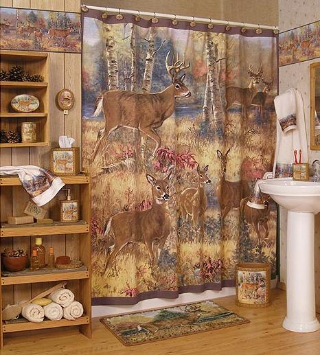 And Cabin Home Deer Lodge Decor Bathroom Accessories Ga